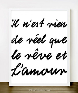 Dreams and Love in Classic Black and White French by theloveshop, $20 ...