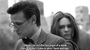 ... , amy pond, book, doctor who, end, page, quotes, text, the doctor