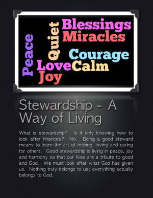 Stewardship 2-Page Poster