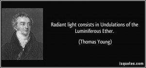 Radiant light consists in Undulations of the Luminiferous Ether ...