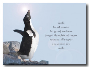smile Be at peace Let go of sadness Forget thoughts of anger Release ...