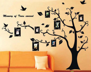 Family tree w/ photo frame wall decals