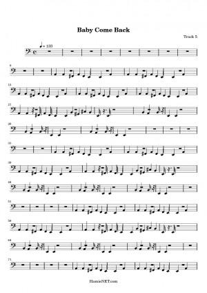 Baby Come Back > MIDI-Score Track 5