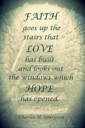 Faith, love, hope...requires belief!