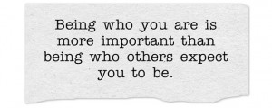 being who you are quote