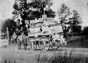 Temperance parade in Eustis, Florida around 1919. Women formed the ...