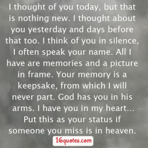 missing someone in heaven quotes