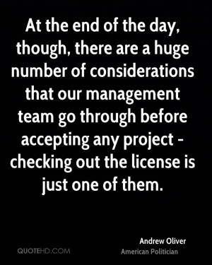 ... accepting any project - checking out the license is just one of them