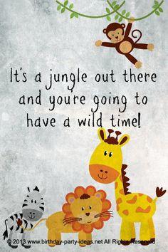 ... quotes #invitation #sayings #birthdaypartyideas #bpartyideas #safari #