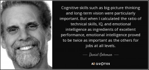 Cognitive skills such as big-picture thinking and long-term vision ...
