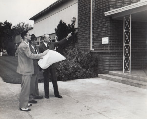 Frank Stewart, administrator; George Wolff, architect, Dr. Wallace ...