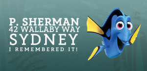 You know two addresses: your own, and this one. Dory just barely knows ...