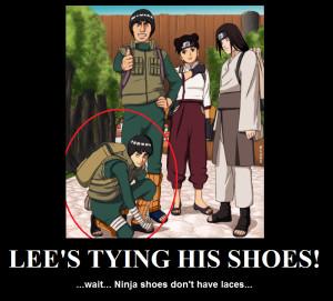 Rock Lee Poster- Ninja Shoes by KamaSenya