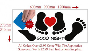 Details about Funny Good Night Bedroom Sexy Adult Quote Wall Sticker ...