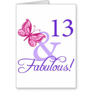 13 And Fabulous Birthday Card