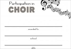 Chorus Certificates / Awards