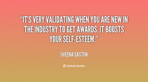 It's very validating when you are new in the industry to get awards ...