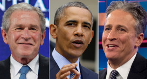 Week in one-liners: Bush, Obama, Stewart