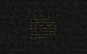 Lotr Quote Wallpaper Dark quotes wallpaper