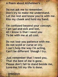 Alzheimer's Poem More
