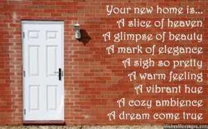 Beautiful greeting for a new home housewarming card