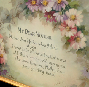 Show and Tell Friday ~ My Dear Mother Print