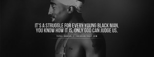 Tupac Young Black Struggle Facebook Cover