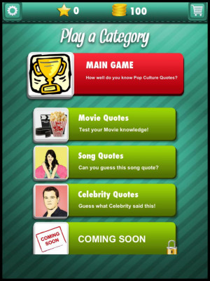 the famous quotes play exciting categories such as movie celebrity ...