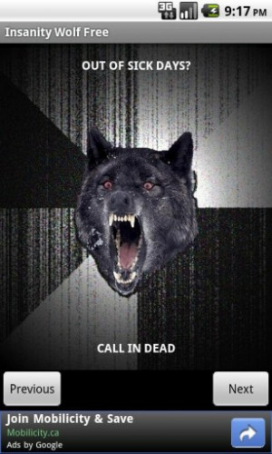 Insanity Wolf Quotes
