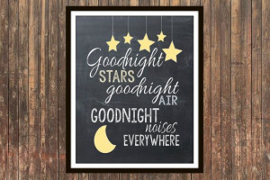 Goodnight Moon children's book quote by SweetFaceDesign on Etsy, $7.00