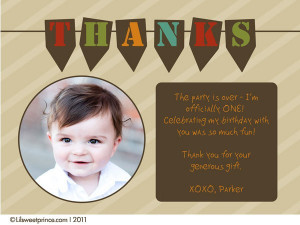First Birthday Thank You Phrases