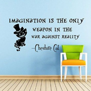 Imagination is the Only Weapon - Cheshire Cat Sayings Quote Smile Cat ...