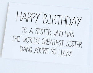Funny Birthday Cards Brother From Sister