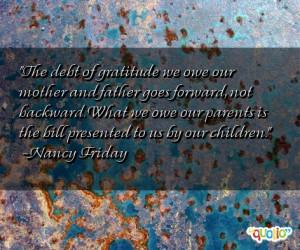 The debt of gratitude we owe our