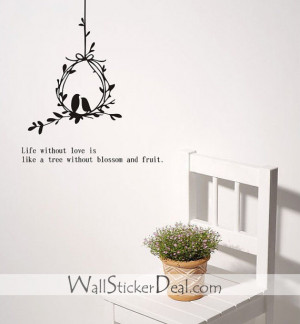 Birds Couple Love Quotes Wall Stickers