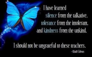 should not be ungrateful ...