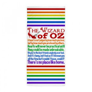 Wizard Of Oz Quotes Beach Towel
