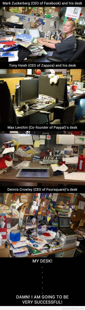 Messy desk says about you…
