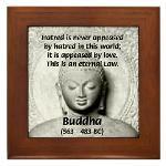 Buddhism Philosophy of Love Framed Tile