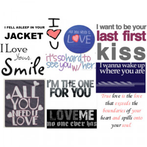 cute love/heart breaker quotes - Polyvore