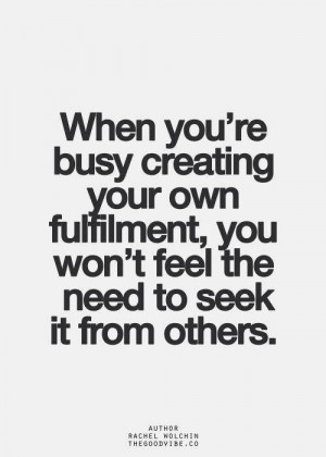 Create your own fulfillment.