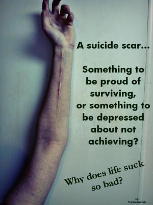 suicide scar...