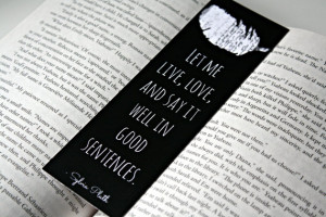 The Bell Jar Bookmark - Sylvia Plath Quote, Literary Quote Print ...