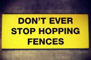 Skateboarding Quotes | Don't ever stop hopping fences
