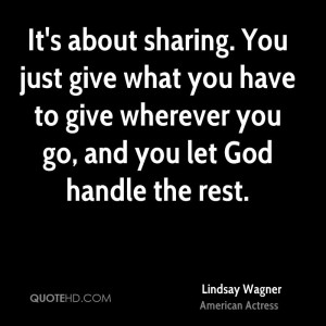 Lindsay Wagner Quotes