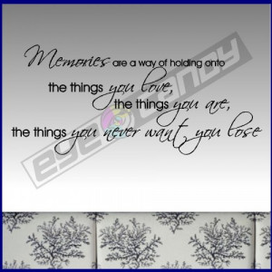 Memories Are Wall Words Quotes Sticker Decals Sayings