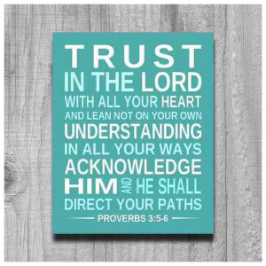 Trust God's plan for your life!