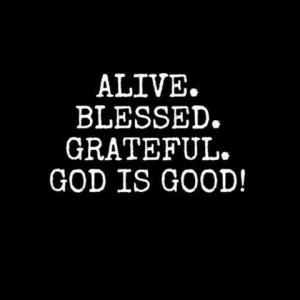 ... , Life, Gods Is Good, Amenities, Faith, Grateful, Inspiration Quotes