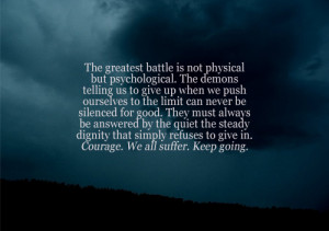 ... self harm courage strength strong Demon recovery battle recover
