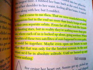 One of the quotes that I love in this book, I even made a post about ...